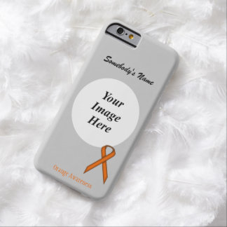 Orange Standard  Ribbon Tmpl by Kenneth Yoncich Barely There iPhone 6 Case