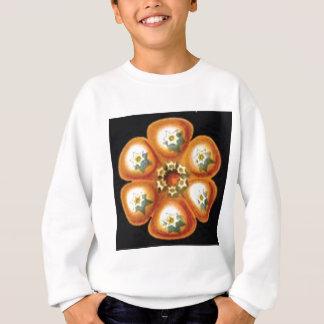 orange star flower pattern sweatshirt