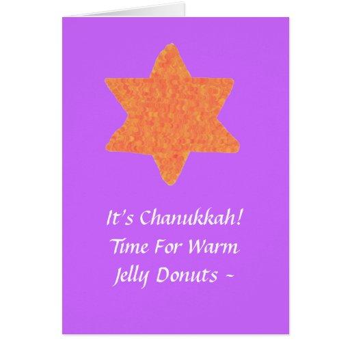 Orange Star of David, Chanukkah Card