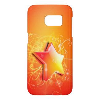 orange star swirl vector art
