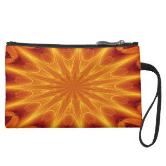 Orange Starburst Clutch - Wristlet