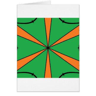 orange starbursts card
