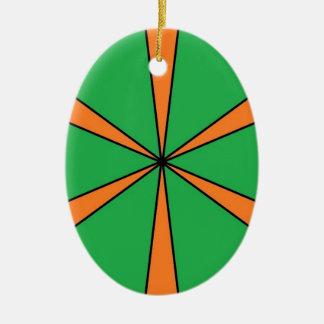 orange starbursts ceramic ornament
