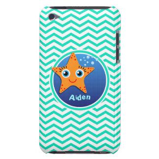 Orange Starfish Aqua Green Chevron Case-Mate iPod Touch Case