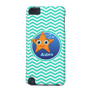 Orange Starfish Aqua Green Chevron iPod Touch 5G Case