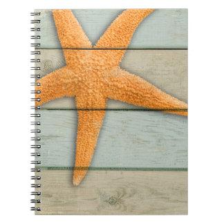 Orange Starfish Notebooks