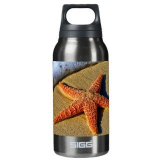 Orange Starfish On Beach Insulated Water Bottle