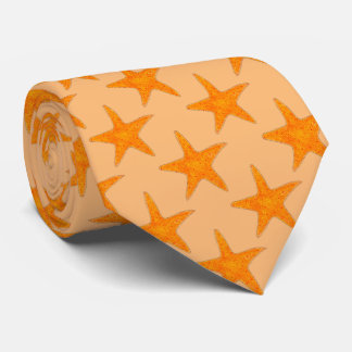 Orange Starfish Star Fish Beach Seashell Shell Tie
