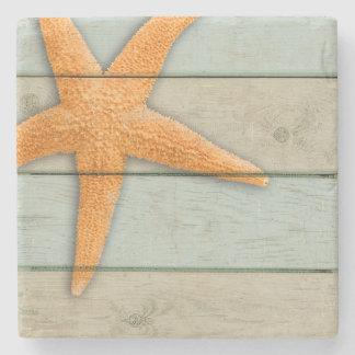 Orange Starfish Stone Coaster