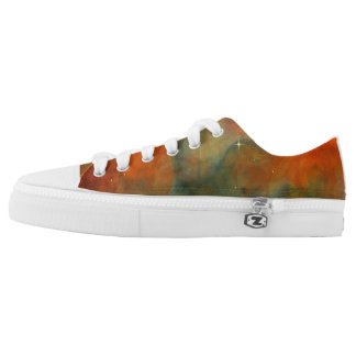 Orange Starlit Sky Sneakers