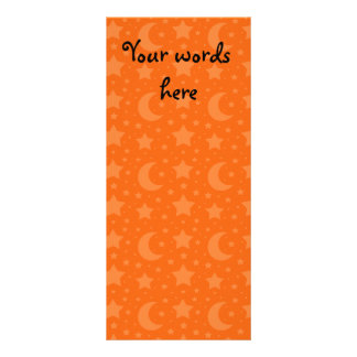 orange stars and moon patterns customized rack card