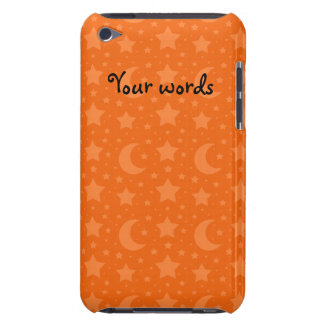 Orange stars and moons pattern barely there iPod covers
