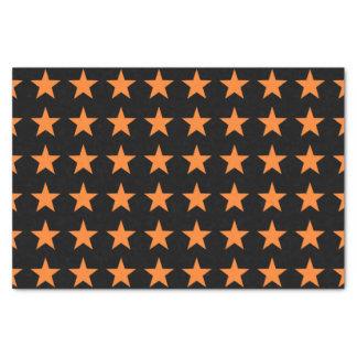 Orange Stars Black Tissue Paper