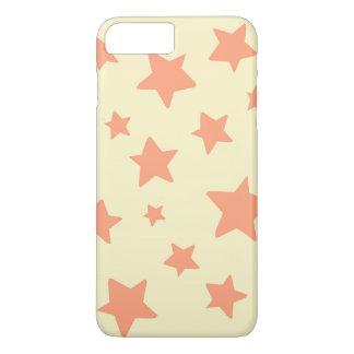 Orange Stars with Cream Background iPhone 7 Plus Case