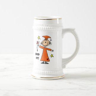 Orange Stick Figure Girl Graduate Coffee Mug