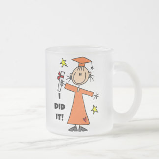 Orange Stick Figure Girl Graduate Mug