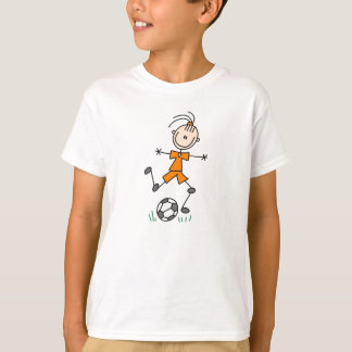 Orange Stick Figure Soccer Shirt