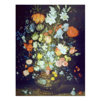 Orange Still Life of Flowers, Jan Brueghel flowers Postcard