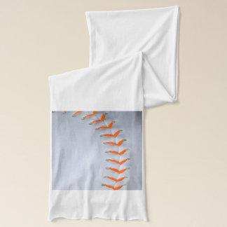 Orange Stitches Baseball Scarf