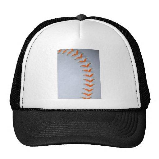 Orange Stitches Softball / Baseball Mesh Hat