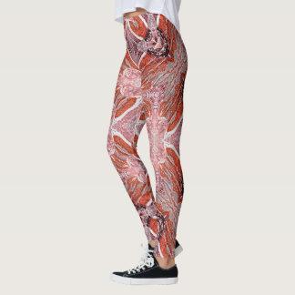 Orange Storm Geometric Leggings