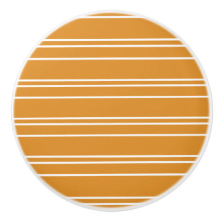 Orange Stripe Design - Drawer Knob