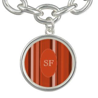 Orange Stripe Monogram