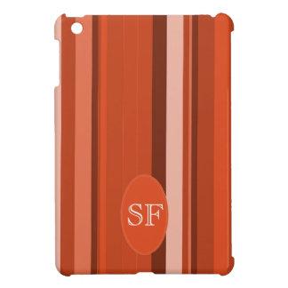 Orange Stripe Monogram Case For The iPad Mini