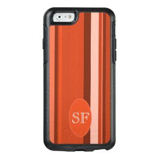 Orange Stripe Monogram OtterBox iPhone 6/6s Case
