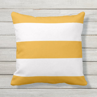 Orange Stripe Striped Stripes Outdoor Throw Pillow