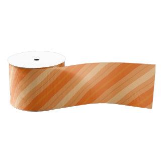 Orange Striped Ribbon Grosgrain Ribbon