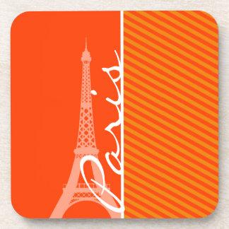Orange Stripes; Paris Coasters