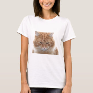 Orange Stripped Tabby Cat T-Shirt