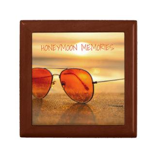 Orange Summer Beach Holiday Sunglasses Small Square Gift Box