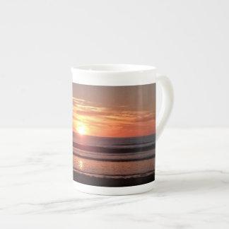 Orange summer sunny sunset bone china mug. tea cup