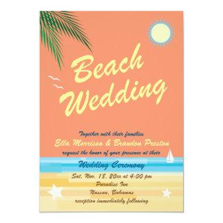 Orange Summer Wedding Invitation
