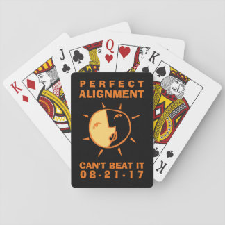 Orange Sun and Moon Eclipse Playing Cards
