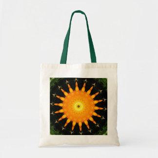 Orange sun canvas bag