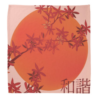"Orange sun red bloom ""Unison"" Bandana"