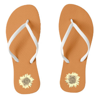 Orange Sunflower on Thongs