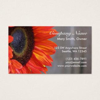 Orange Sunflower Photograph Custom Business Card