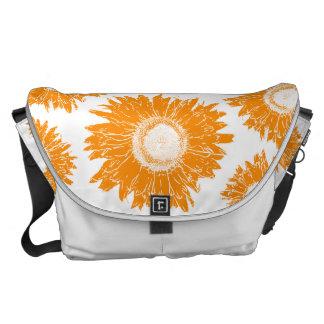 Orange Sunflowers Rickshaw Large Messenger Bag