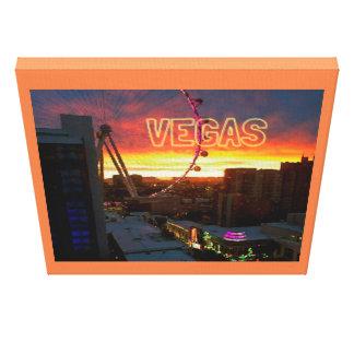 Orange Sunrise Glow Las Vegas Ferris Wheel Canvas Print