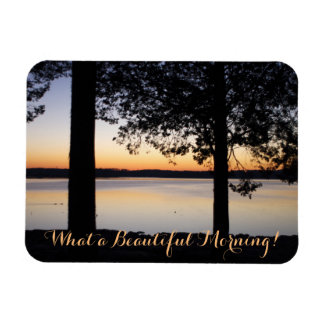 Orange Sunrise Rectangular Photo Magnet