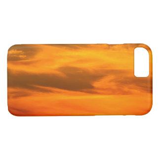 Orange Sunset Clouds Photograph 1 iPhone 7 Case