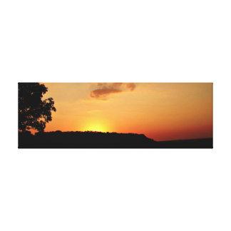 Orange Sunset Horizon Canvas Pring