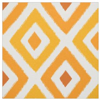 Orange Sunset Ikat Fabric
