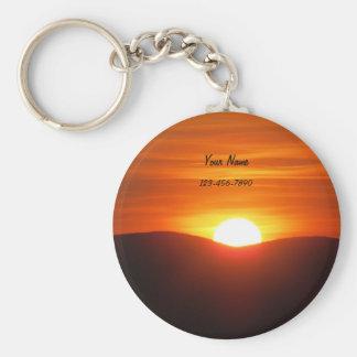 Orange Sunset Key Ring
