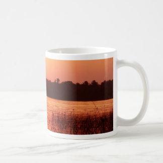 Orange Sunset on the lake Coffee Mug