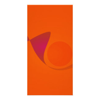 Orange Sunset Photo Card Template